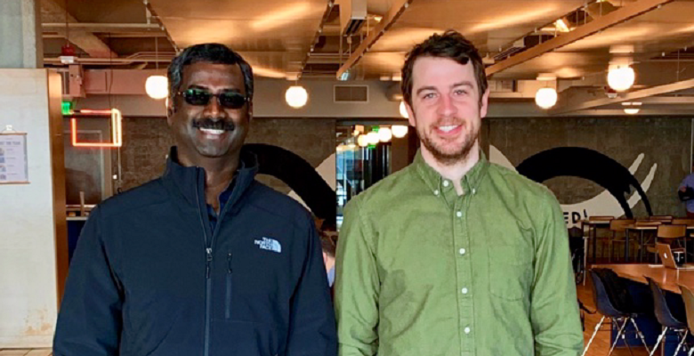 Ally founder and CEO Vetri Vellore (left) and Cooper Crosby, head of UX.