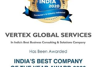 Photo of Vertex Global Services Bags the Prestigious India's Best Company of the Year Awards 2020, by Berkshire Media