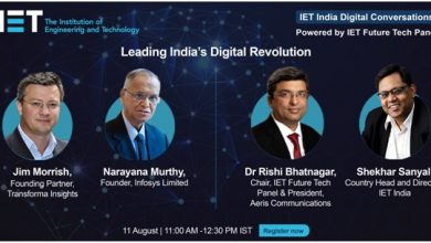 Photo of N R Narayana Murthy will Speak at IET India Digital Conversations about Leading India's Digital Revolution
